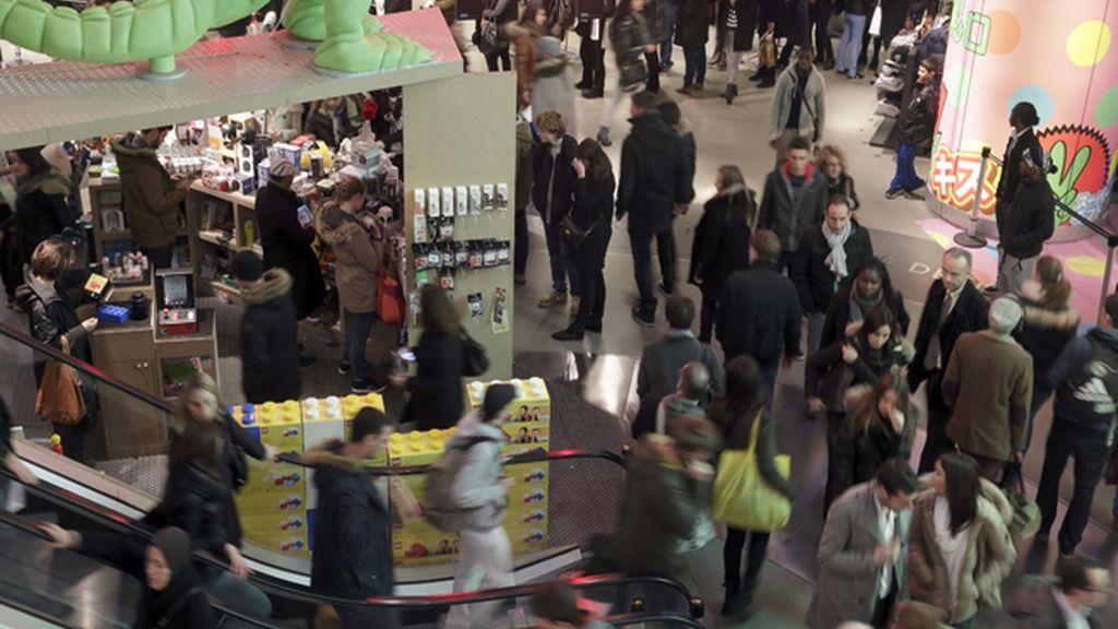 Compras de navidad,centro comercial,rebajas