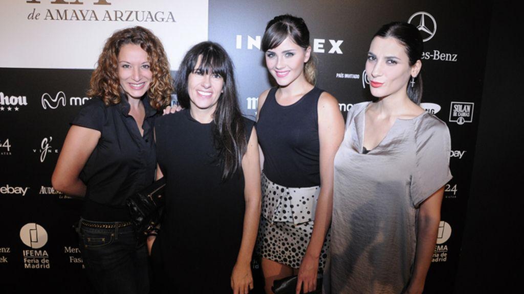 Eva Almaya, Amaya Arzuaga, Lucía Ramos y Cecilia Gessa