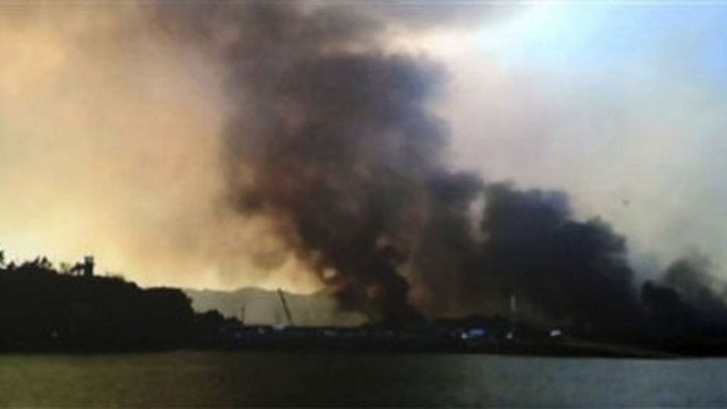 decenas de casas incendiadas