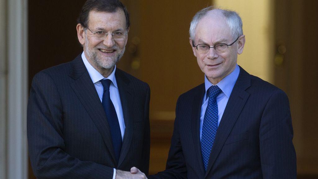 Rajoy y Van Rompuy, en Moncloa