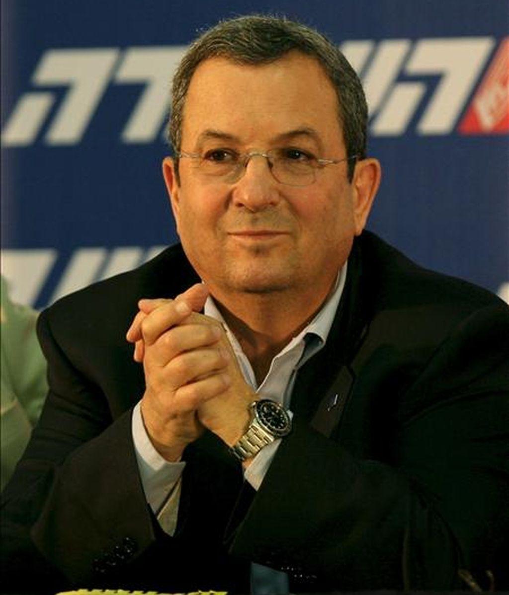 Foto del 24 de marzo de 2009 del ministro de Defensa israelí, Ehud Barak, que seguirá en el cargo con el nuevo Gobierno de Benjamín Netanyahu. EFE
