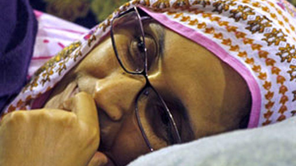 Aminattou Haidar lleva dos semanas en huelga de hambre. Foto: EFE
