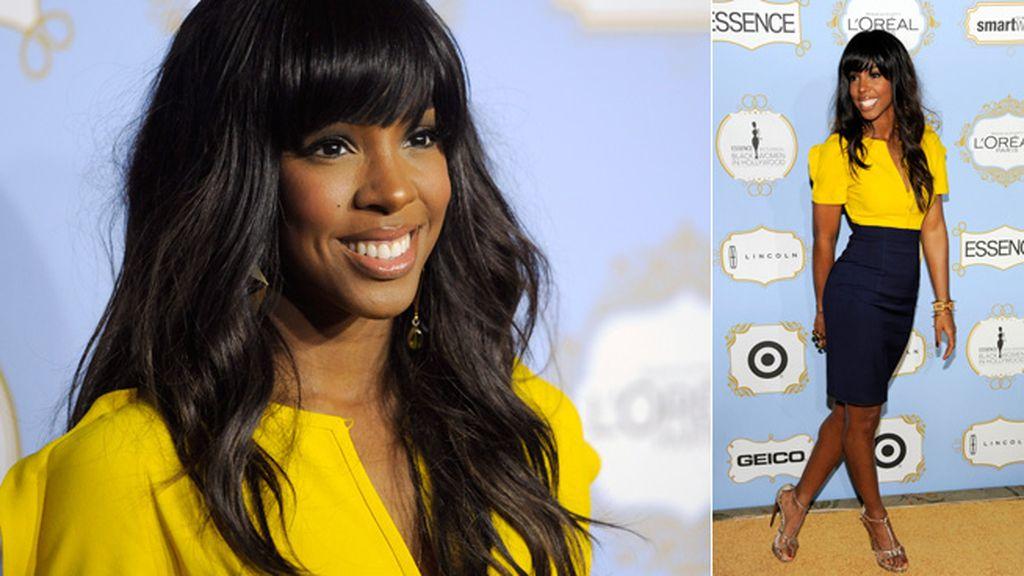 Kelly Rowland apostó por el amarillo 'Bárcenas' para asistir a la gala