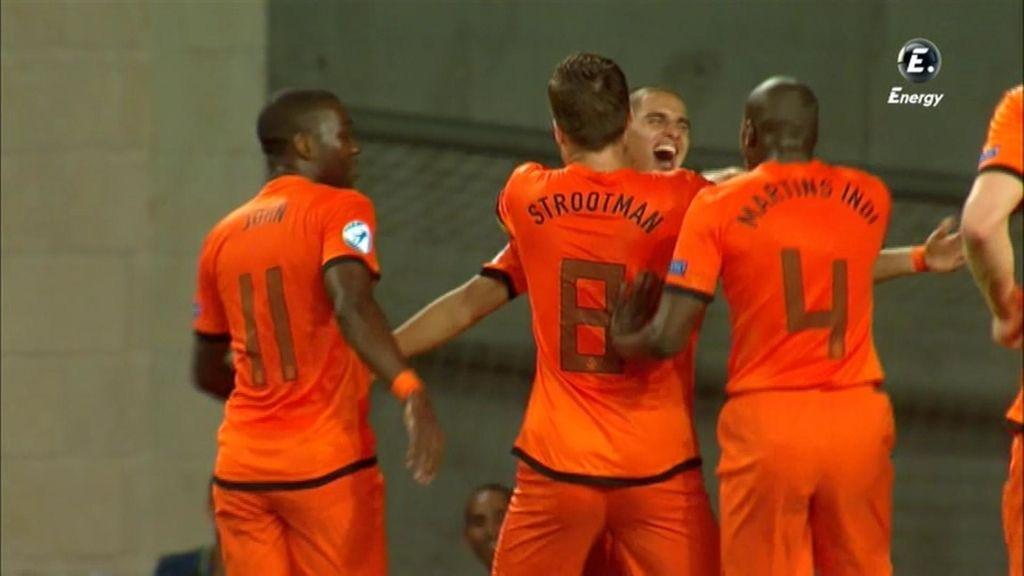 Holanda fue muy superior en la primera parte.