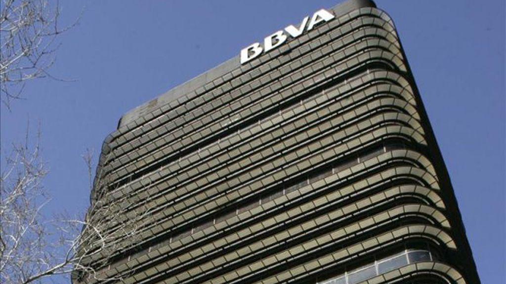 Sede del BBVA en el Paseo de la Castellana en Madrid