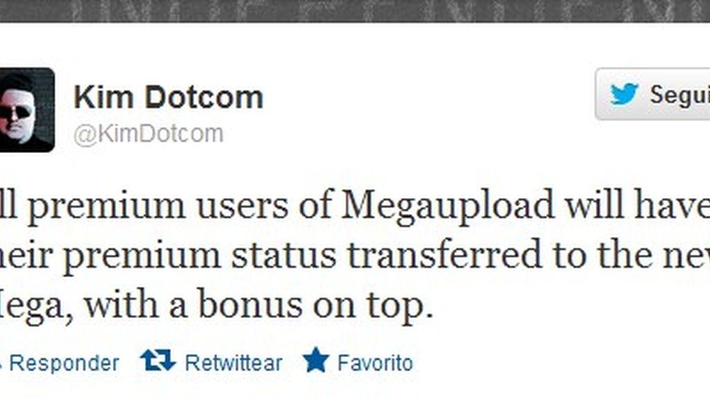 Kim Dotcom lo ha anunciado las buenas noticias para sus exclientes en Megaupload en su cuenta en Twitter.