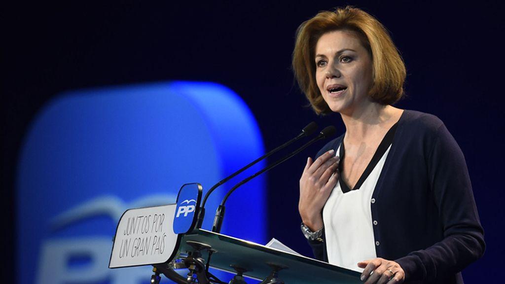 Cospedal durante su discurso en la Convención Nacional del Partido Popular