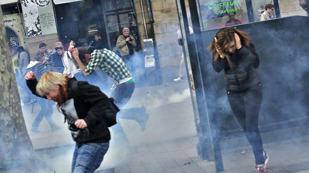 Protestas en Nantes