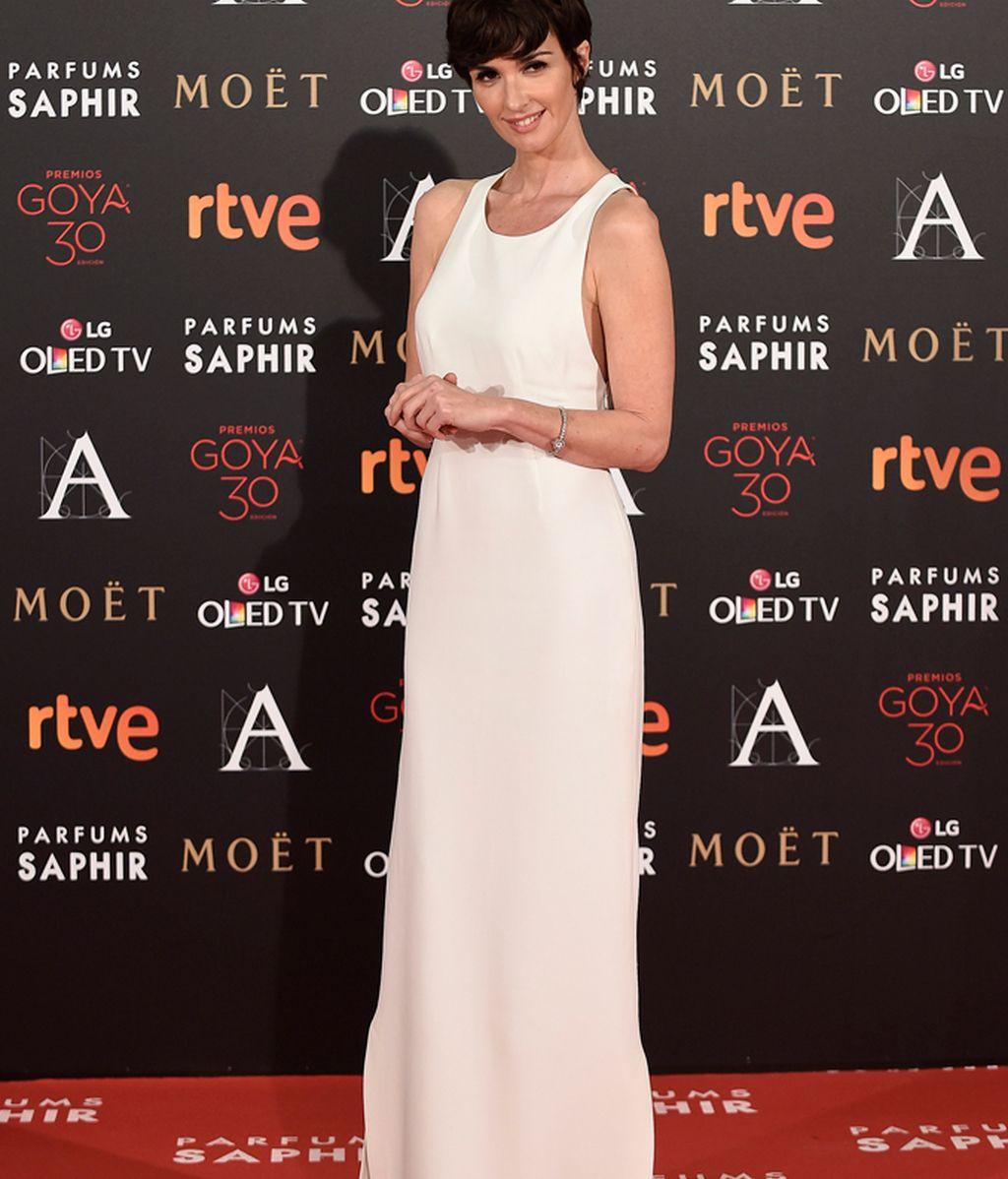 Paz Vega vestida de Calvin Klein