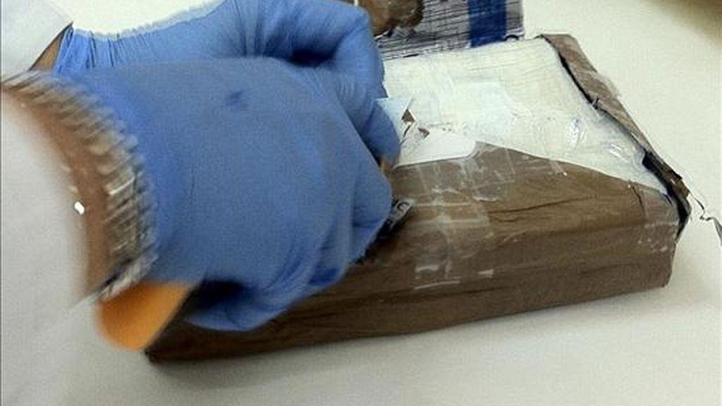 Cocaína incautada en un alijo. EFE/Archivo
