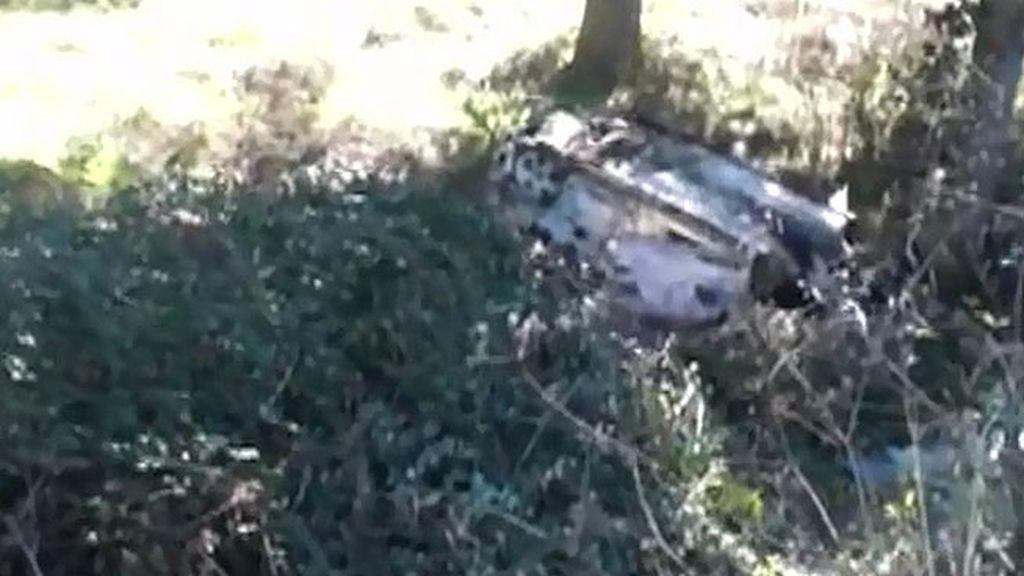 Primeras imágenes del coche que conducía José Fernando la noche del robo