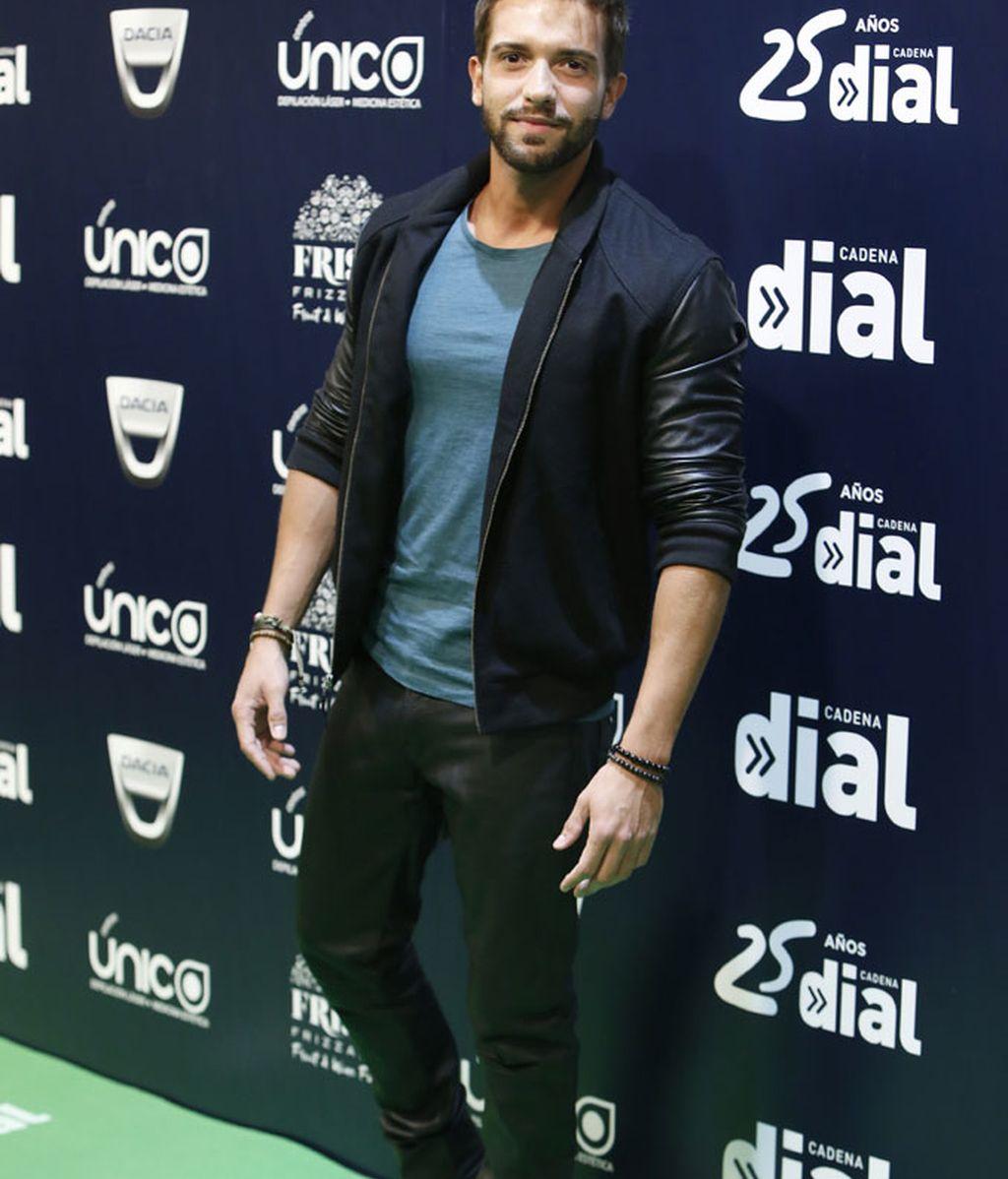 Pablo Alborán en la gala de 25 Aniversario de Cadena Dial