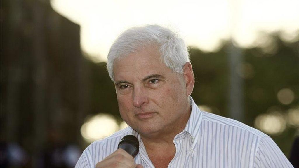 Imagen del presidente de Panamá, Ricardo Martinelli. EFE/Archivo