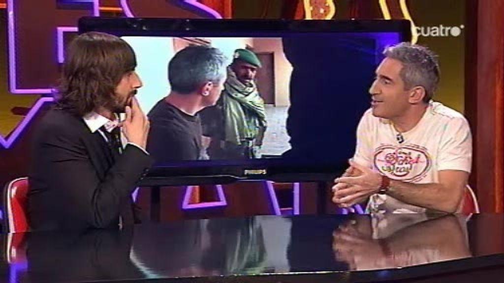 Jon Sistiaga habla con Santi de la valentía para ser reportero