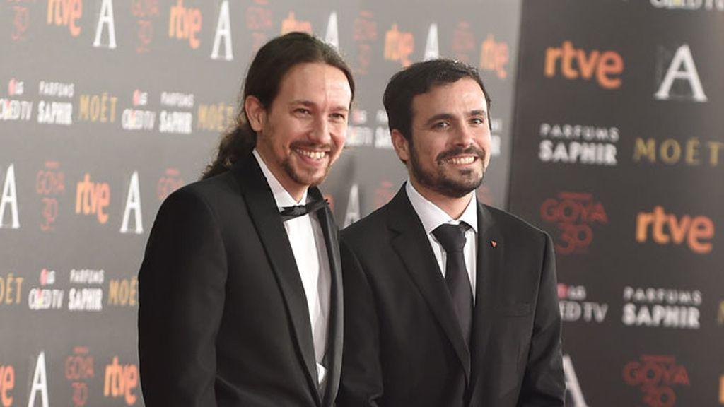 Pablo Iglesias junto a Alberto Garzón
