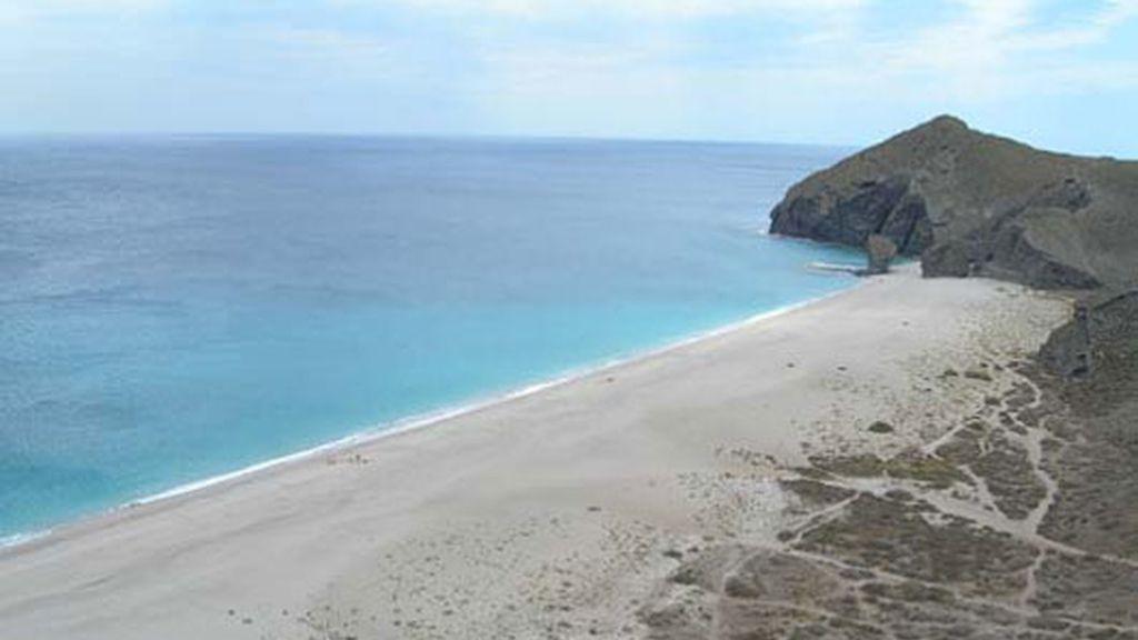 Playa de Los Muertos, en Carbonera