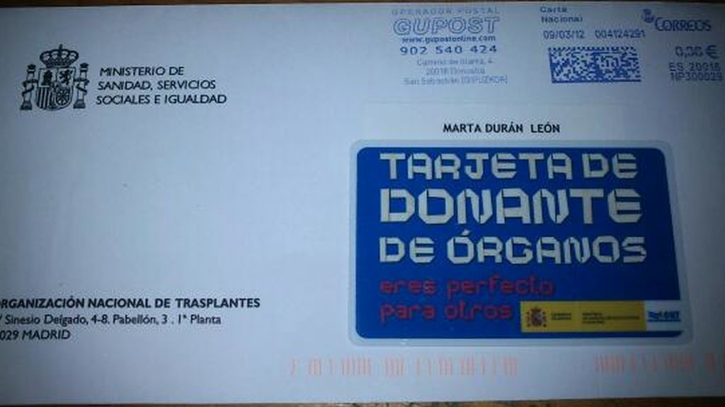 La tarjeta de Marta Durán