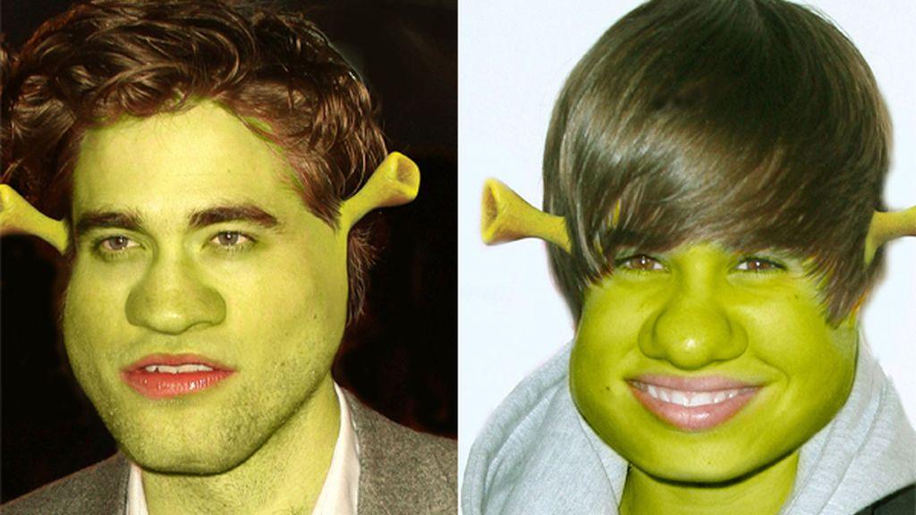 Ambos fueron caracterizados como Shrek
