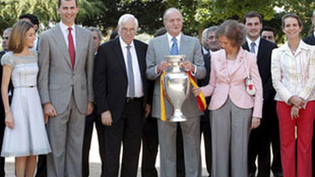 La Familia Real ha recibido a los jugadores en la Zarzuela. Vídeo: ATLAS.