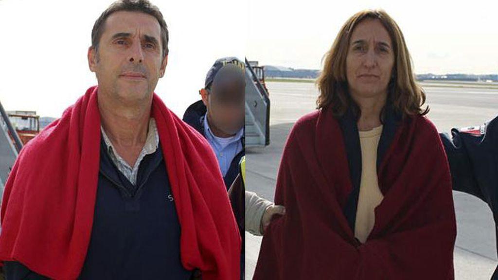 Los etarras Juan Jesús Narváez Goñi e Itziar Alberdi llegan a España