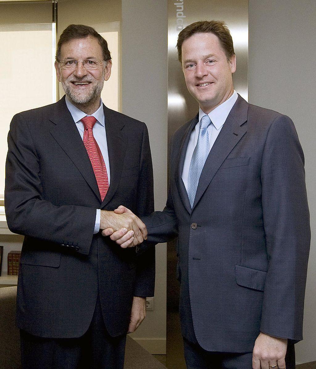 Imagen de archivo de Mariano Rajoy y Nick Clegg