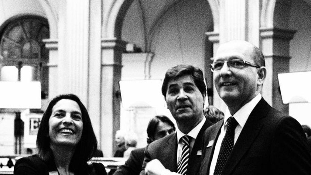 Ana Bueno, Luis Expósito y Manuel Villanueva