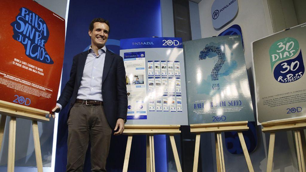 Pablo Casado presenta la campaña digital del Partido Popular para el 20D