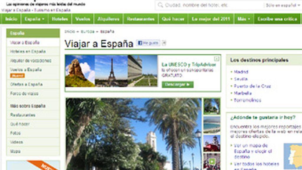 La web de viajes TripAdvisor alcanzó la cifra de 50 millones de visitantes únicos al mes, convirtiéndose España en el tercer país europeo que más tráfico genera para la página.