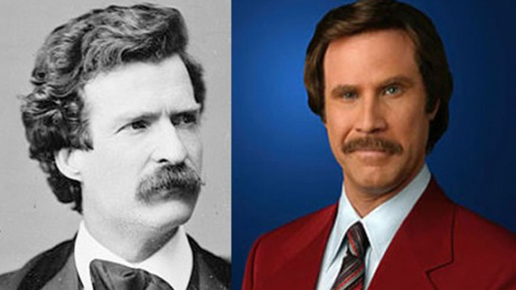 El humorista Mark Twain y el actor Will Ferrell