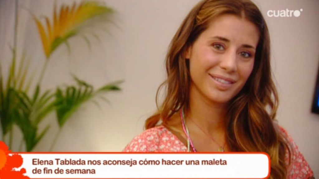 La maleta de fin de semana de Elena Tablada