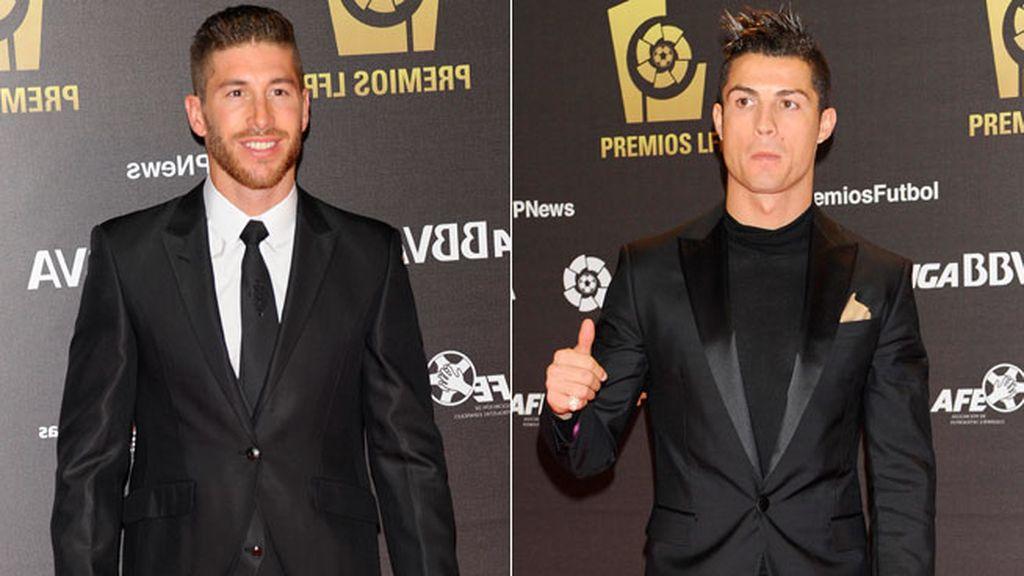 Sergio Ramos y Cristiano Ronaldo, protagonistas de la noche