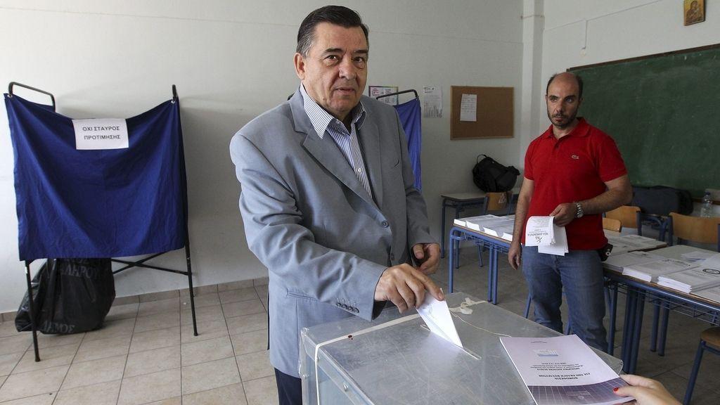 Yorgos Karatzaferis, líder del partido Alarma Popular Ortodoxo (LAOS)