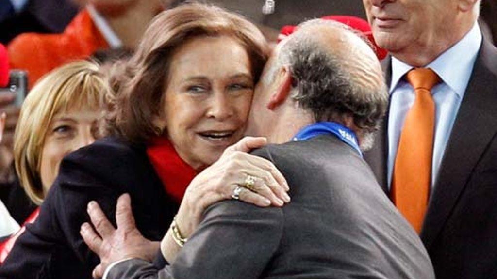 La Familia Real, con La Roja