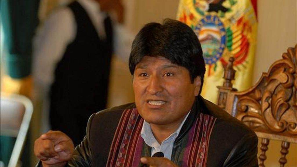 """""""He estado escuchando a algún ministro de la hermana república del Perú que me dice que pida perdón"""", declaró Morales. EFE/Archivo"""