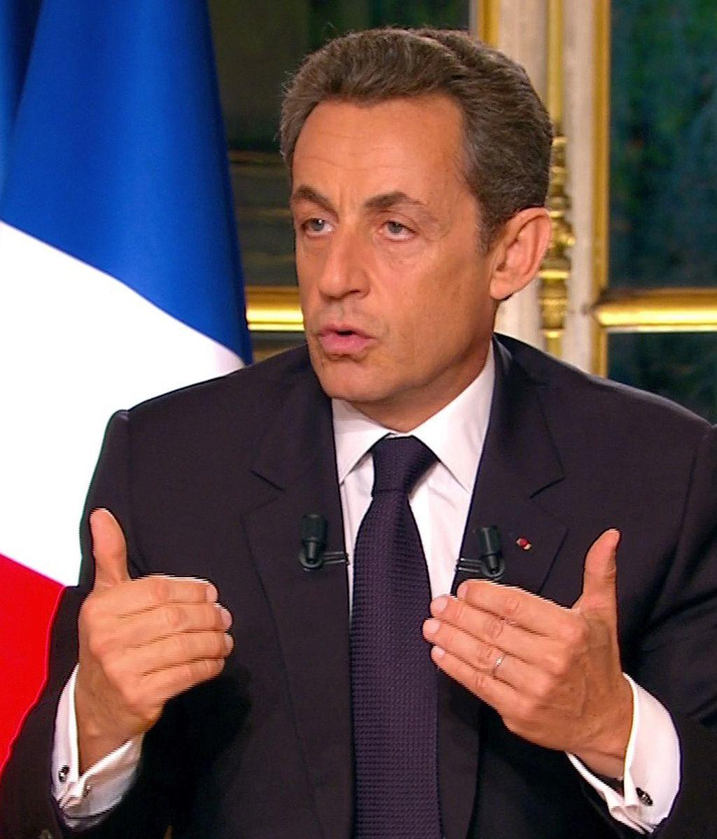 Nicolás Sarkozy durante una entrevista para la televisión francesa