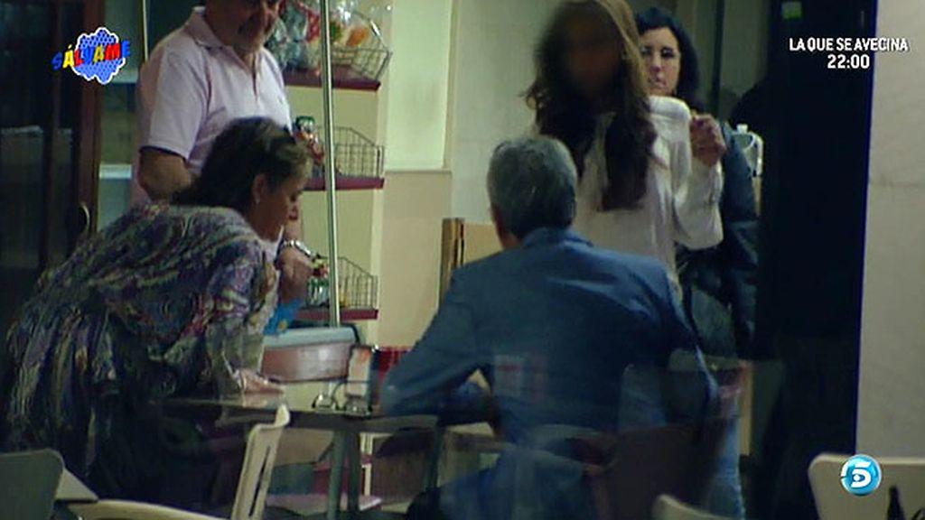 Las cámaras captan el encuentro del diestro con su hija