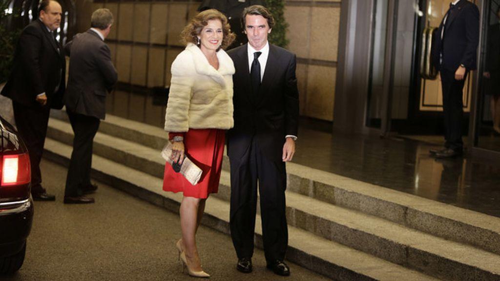 José María Aznar y Ana Botella en la celebración del cumpleaños de Mario Vargas Llosa