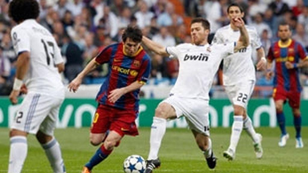 Madrid y Barça vuelven a encontrase, por tercera vez en un mes, ahora en Europa. Foto: EFE.