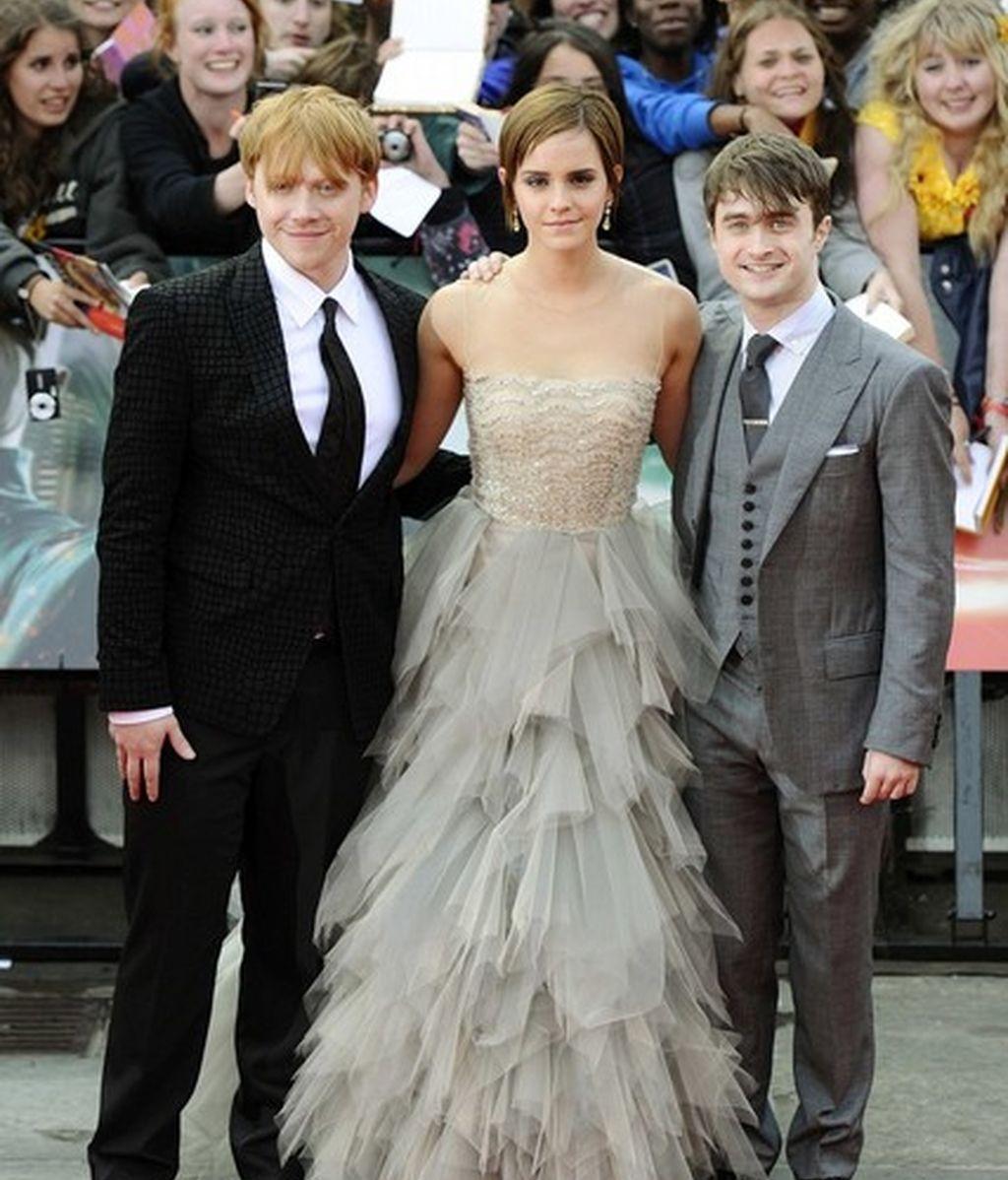 Los tres protagonistas de la película, juntos