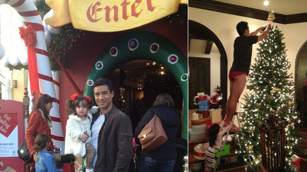 Mario López pasa las navidades en familia y su mujer sube a Twitter una postal poco convencional