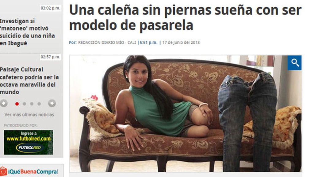 Alejandra Bocanument sueña con ser modelo