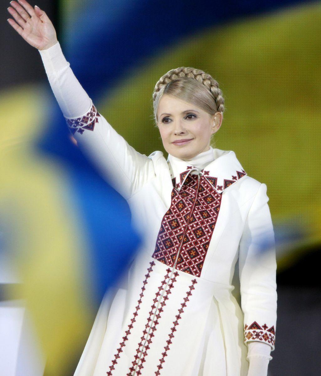 Imagen de archivo de la exprimera ministra ucraniana Yulia Timoshenko