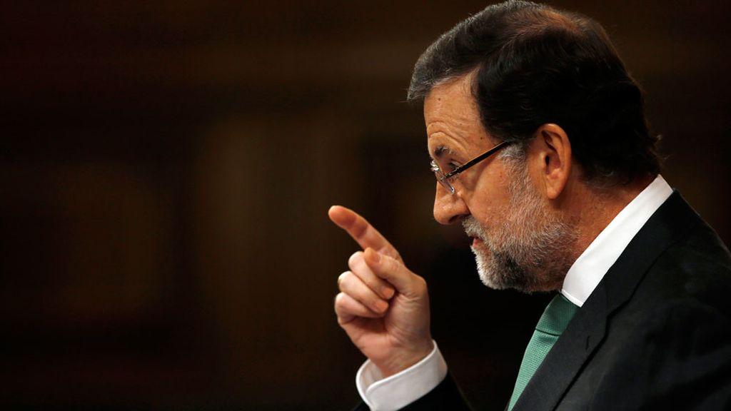 Mariano Rajoy durante la sesión de control