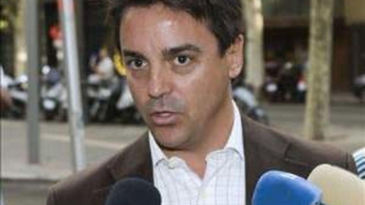 El concejal Rodrigo de Santos durante una de sus visitas a los juzgados