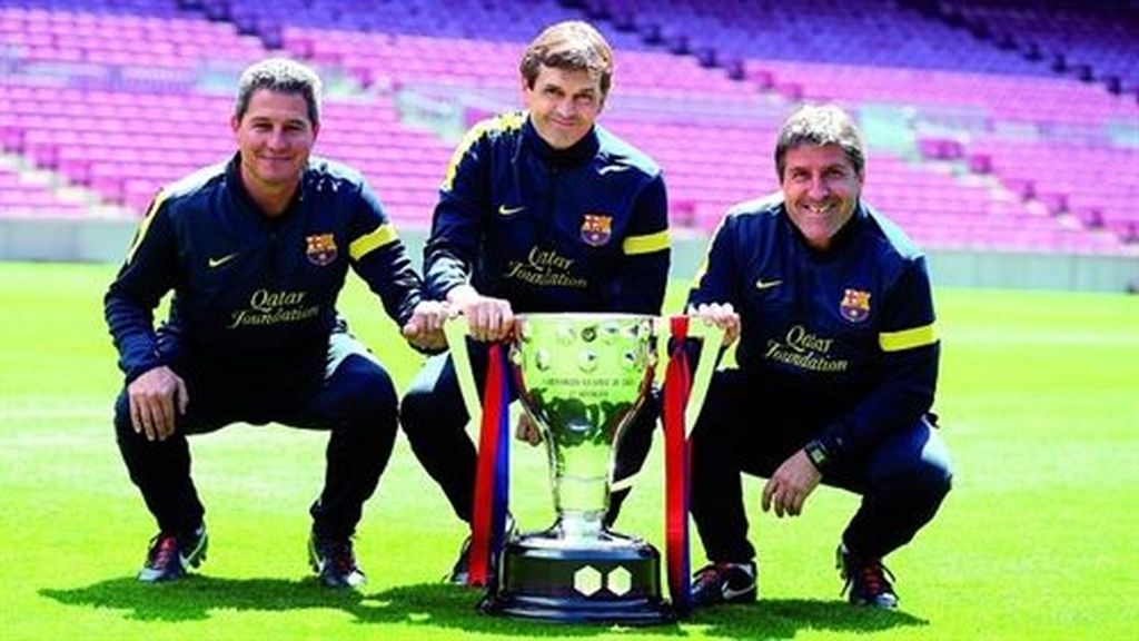Tito Vilanova con su equipo técnico