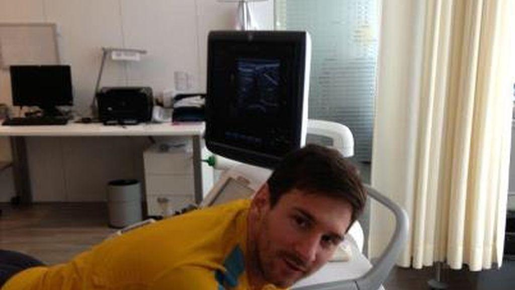 Messi en el reconocimiento médico