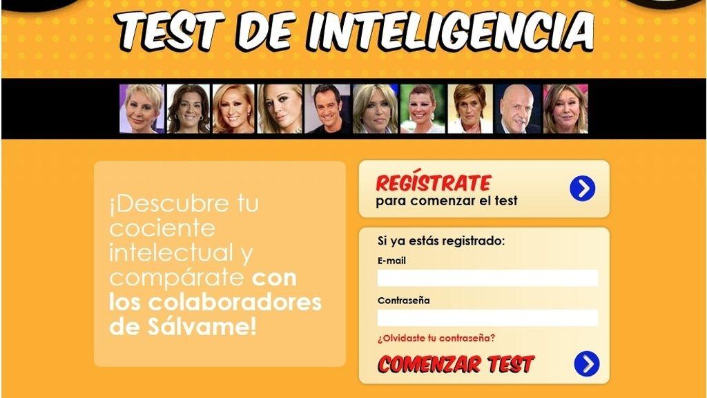 Test de inteligencia 'Sálvame'