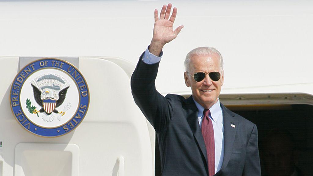 Joe Biden a su llegada a Kiev, la capital de Ucrania
