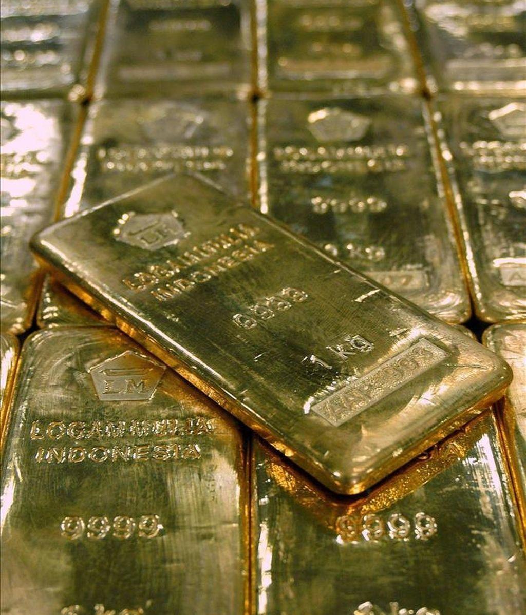 Vista de algunos lingotes de oro. EFE/Archivo
