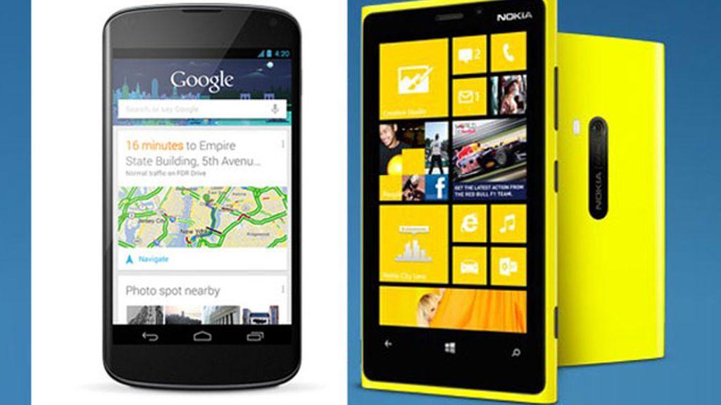 Nokia Lumia, móviles, smartphone, Nexus 4